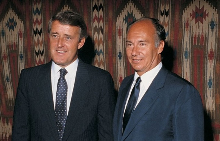 Aga Khan and Brian Mulroney