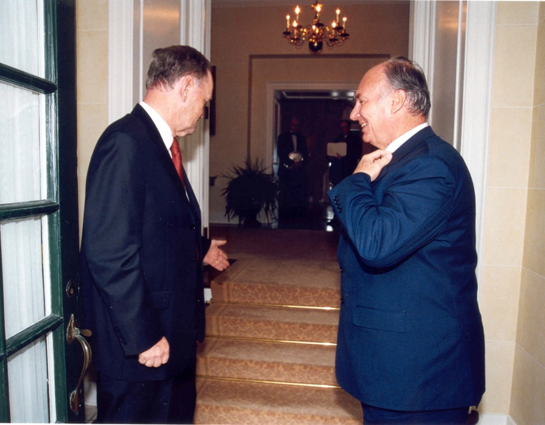 Aga Khan and Jean Chretien