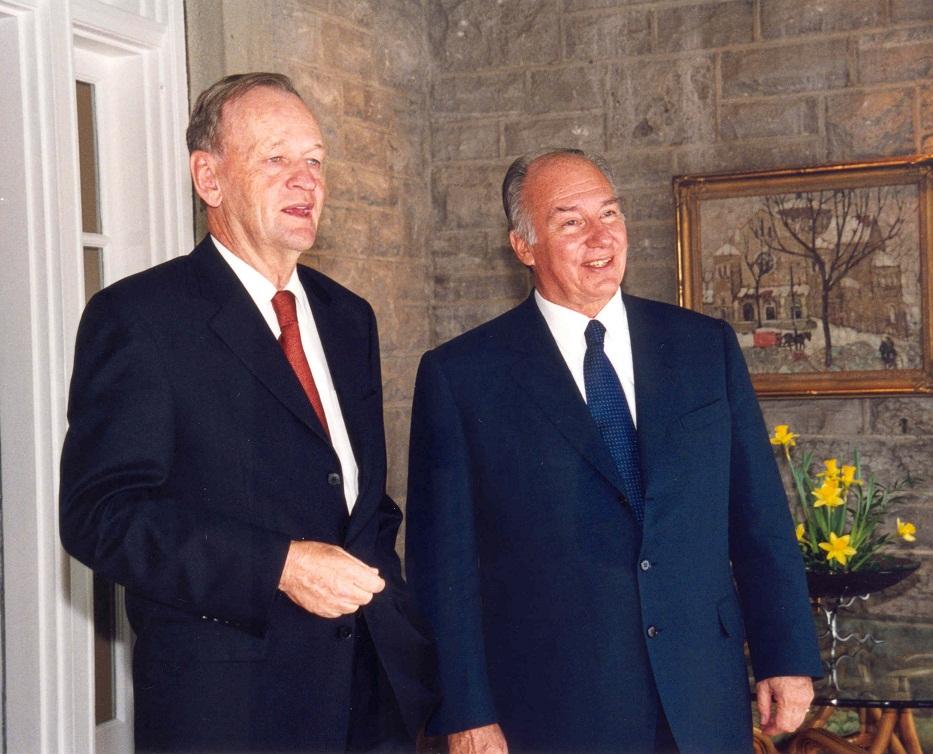 Aga Khan and Prime Minister Jean Chretien Barakah