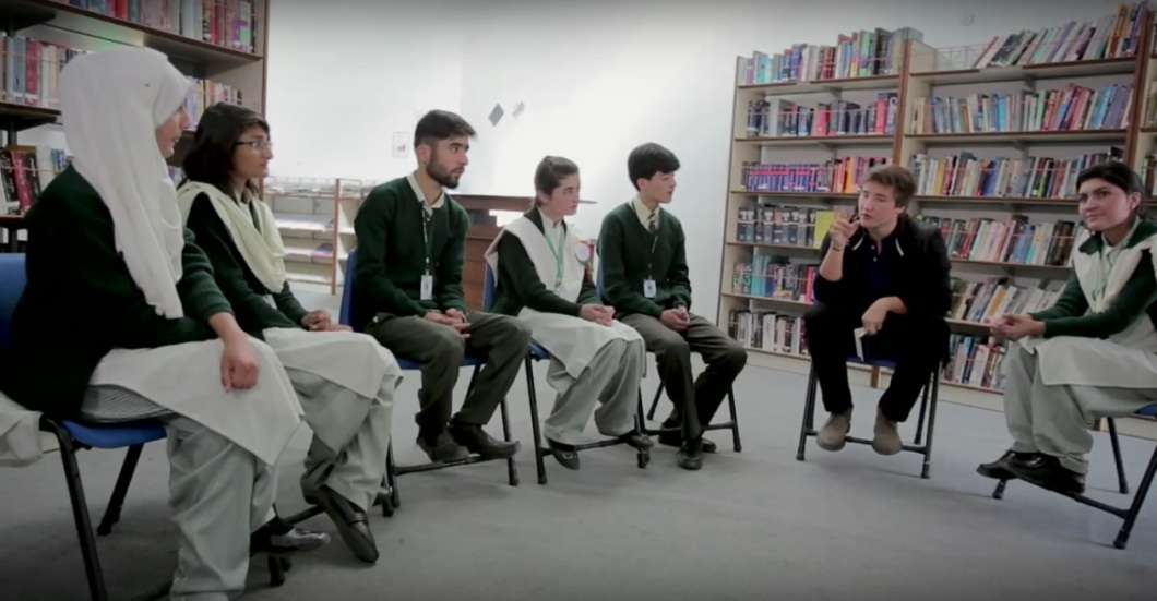 Aly Aga Khan in Northern Pakistan Film with young people