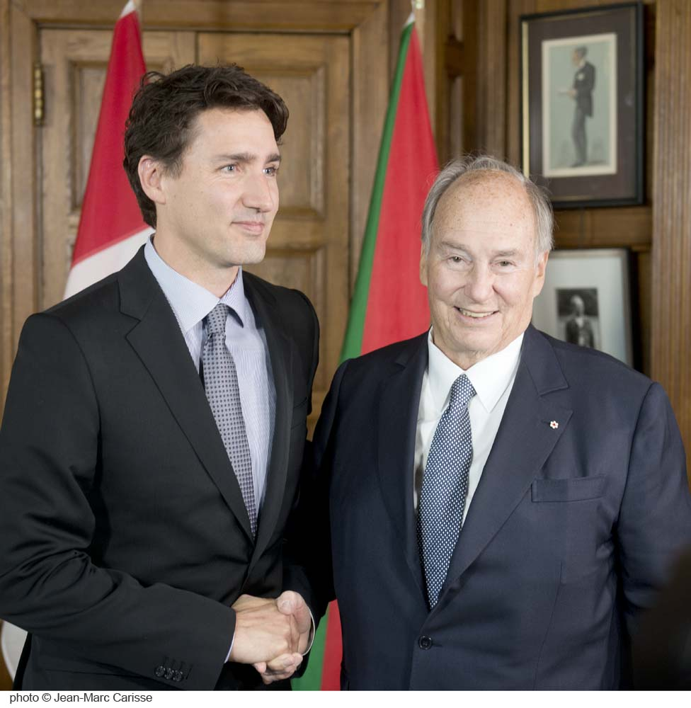 Aga Khan and Trudeau