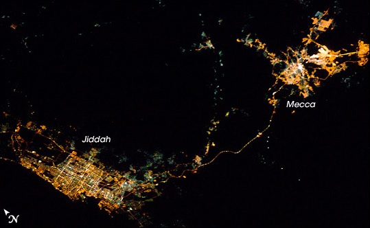 ISS016-E-16189_Mecca and Jeddah at night from the Space Annotated
