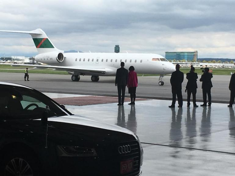Lt Governor of BC and Mayor of Vancouver at YVR to receive Aga Khan