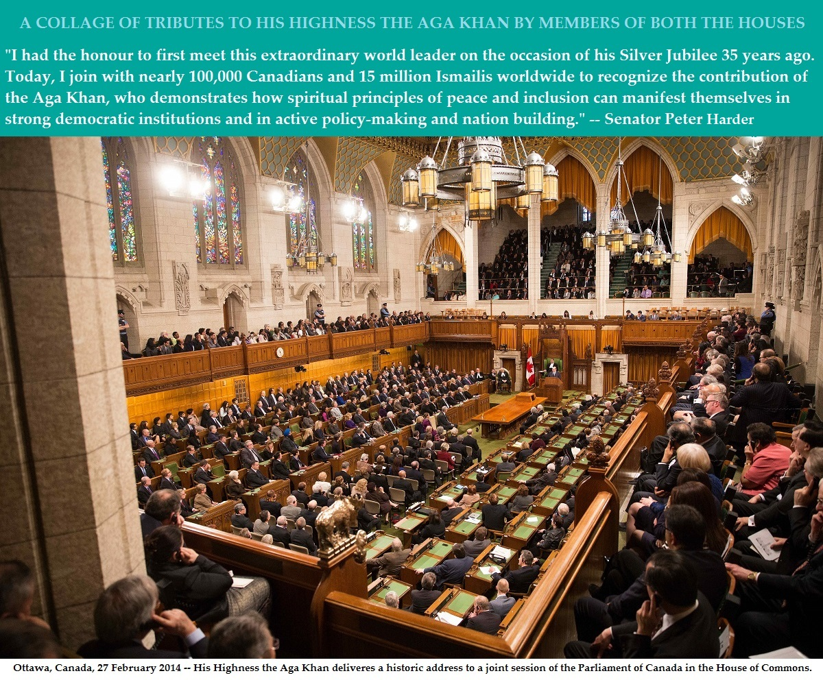 Tributes to His Highness the Aga Khan by the Canadian Members of Parliament and Senate
