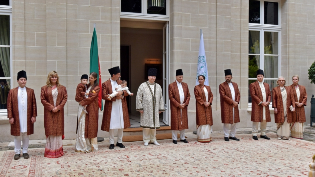 Aga Khan and family Diamond Jubilee Homage Ceremony