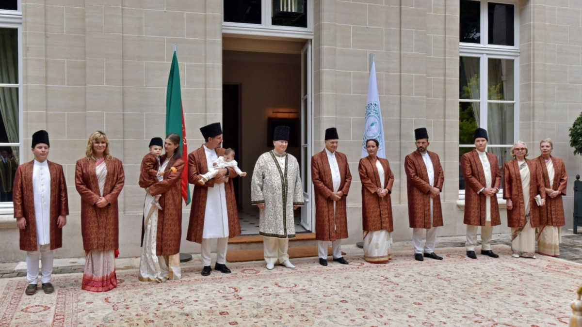 Aga Khan and family Diamond Jubilee Homage Ceremony