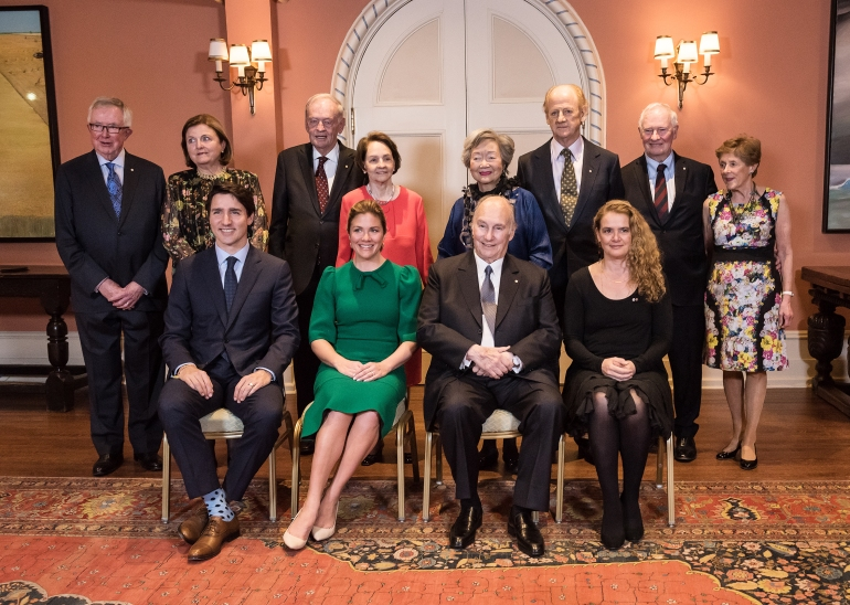 Aga Khan at Rideau Hall with Prime Ministers and Governor Generals