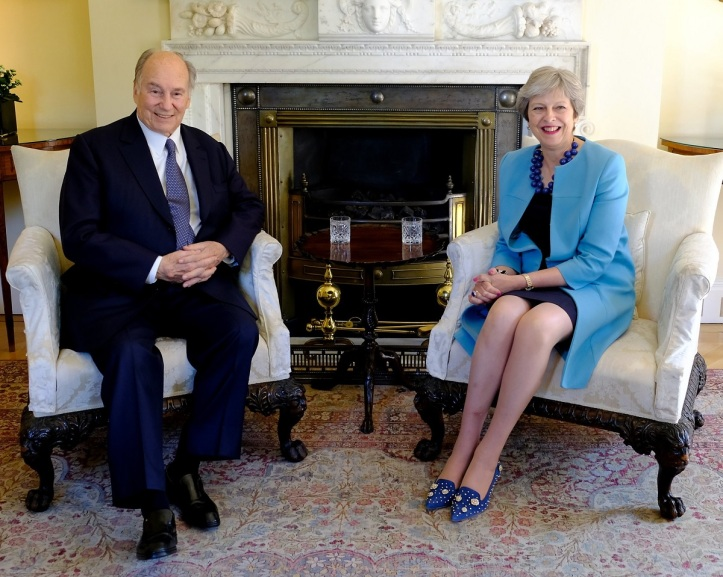 Aga Khan with British Prime Minister Theresa May