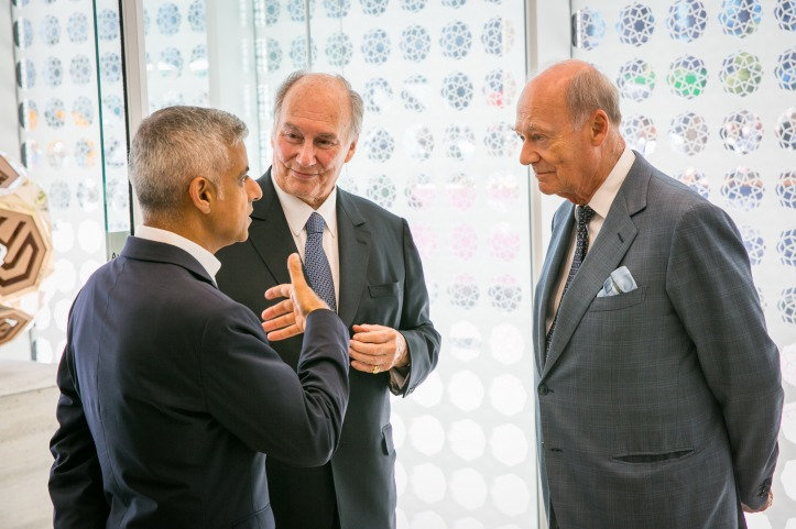 Mayor of London with Aga Khan and Prince Amyn