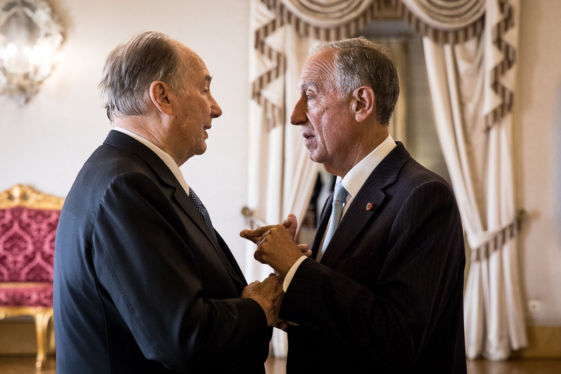 50+ magnificent photos of His Highness the Aga Khan with the President of Portugal at Belem Palace, National Palace of Queluz, and Palacete Henrique de Mendonça