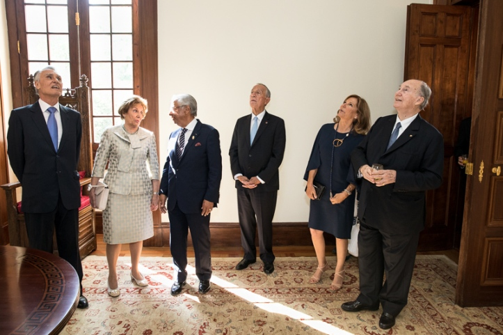 Henrique de Mendonça Aga Khan welcomes portuguese president