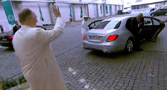 Aga Khan Diamond Jubilee Lisbon bidding farewll to Portuguese president