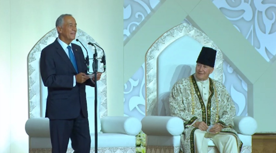 Aga Khan Diamond Jubilee Preident of Portugal at Darbar on 11 July 2018 medium