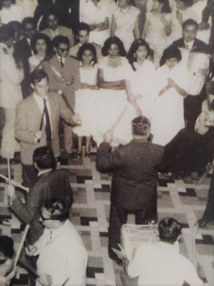 Aga Khan in Tananarive Madagascar playing Dandhia stick dance