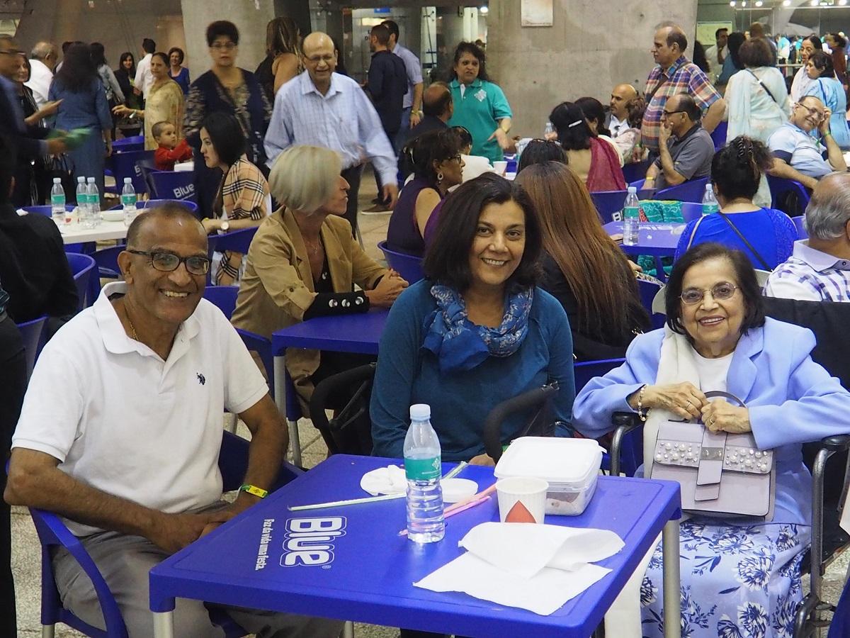 Salim and Nasreen Rahemtuall with Mrs. Merchant