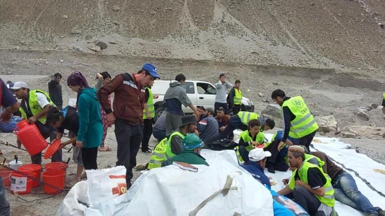Focus Humanitarian at work in Tajikistan in 2005