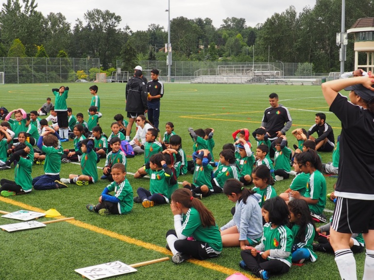 Ismaili youth at soccer camp