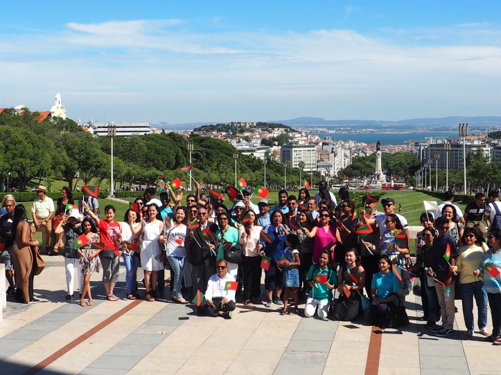 Ismailis at  Eduardo VII Park during the Diamond Jubilee of Aga Khan in Lisbon Malik Merchant simerg