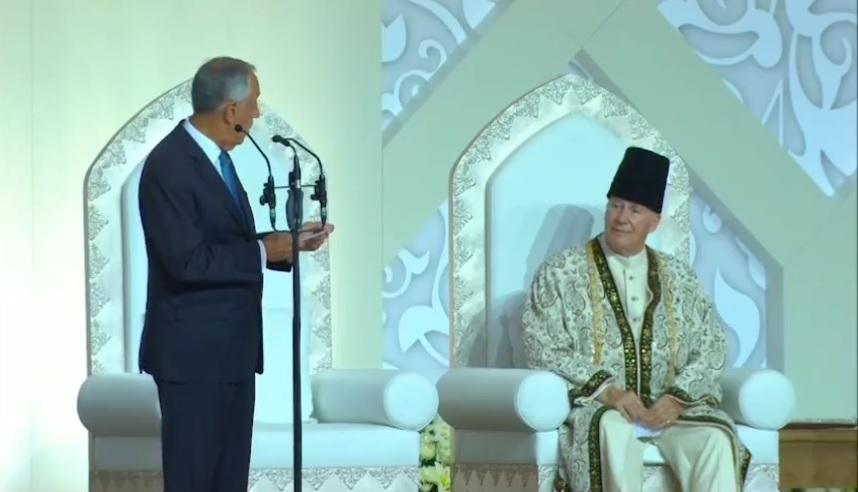 Aga Khan welcomes President of Portugal to Darbar 02