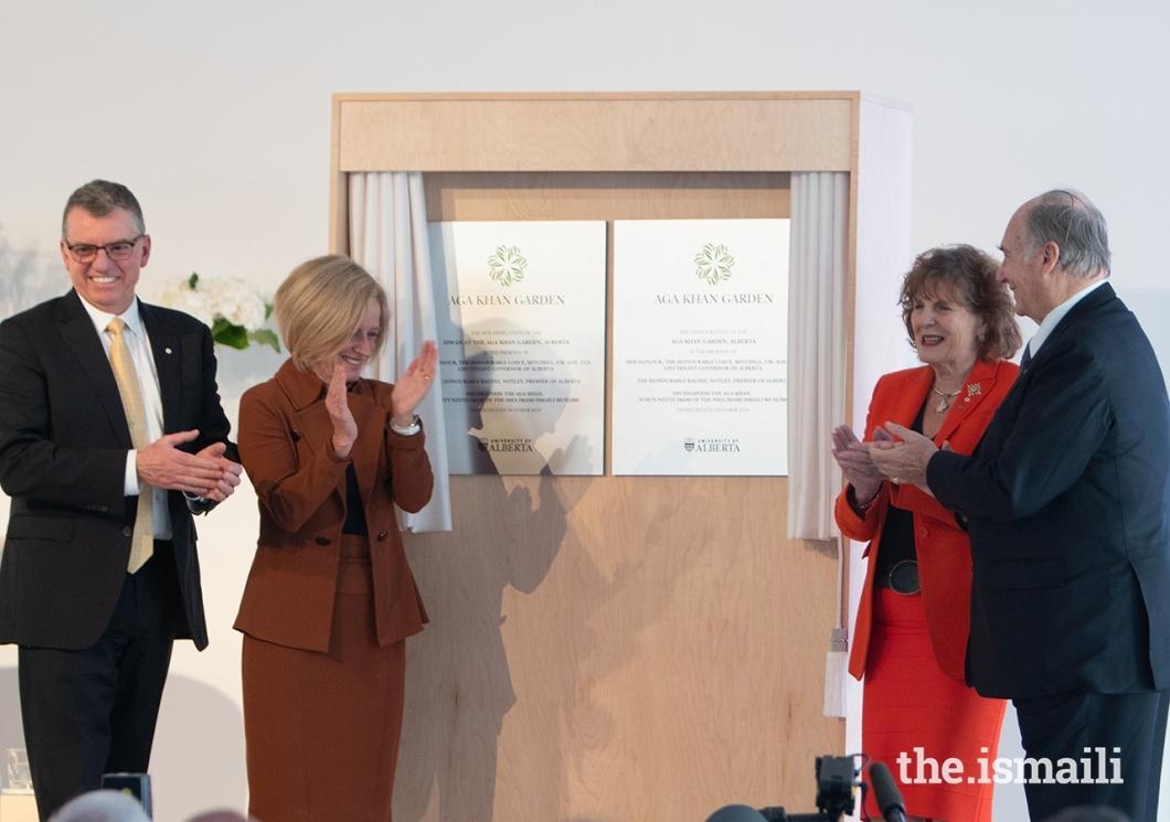 201110_aga khan inaugurates garden in edmonton