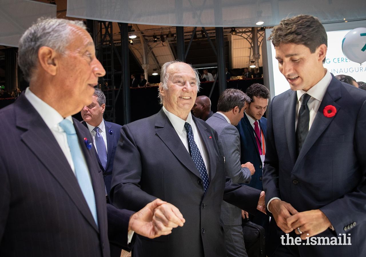 Aga Khan, Trudeau and se Spusa at Paris Peace Forum in 2018, Barakah