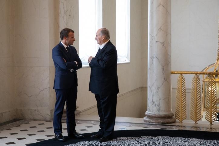 201809_aga khan and French president macron at elysee palace m