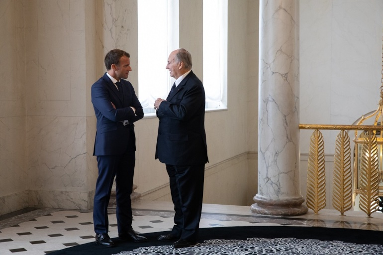 201809_aga khan and French president macron at elysee palace m