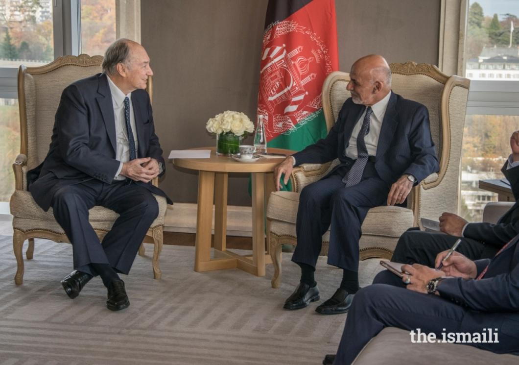 20181126_mawlana hazar imam and ashraf ghani _afghanistan conference geneva_