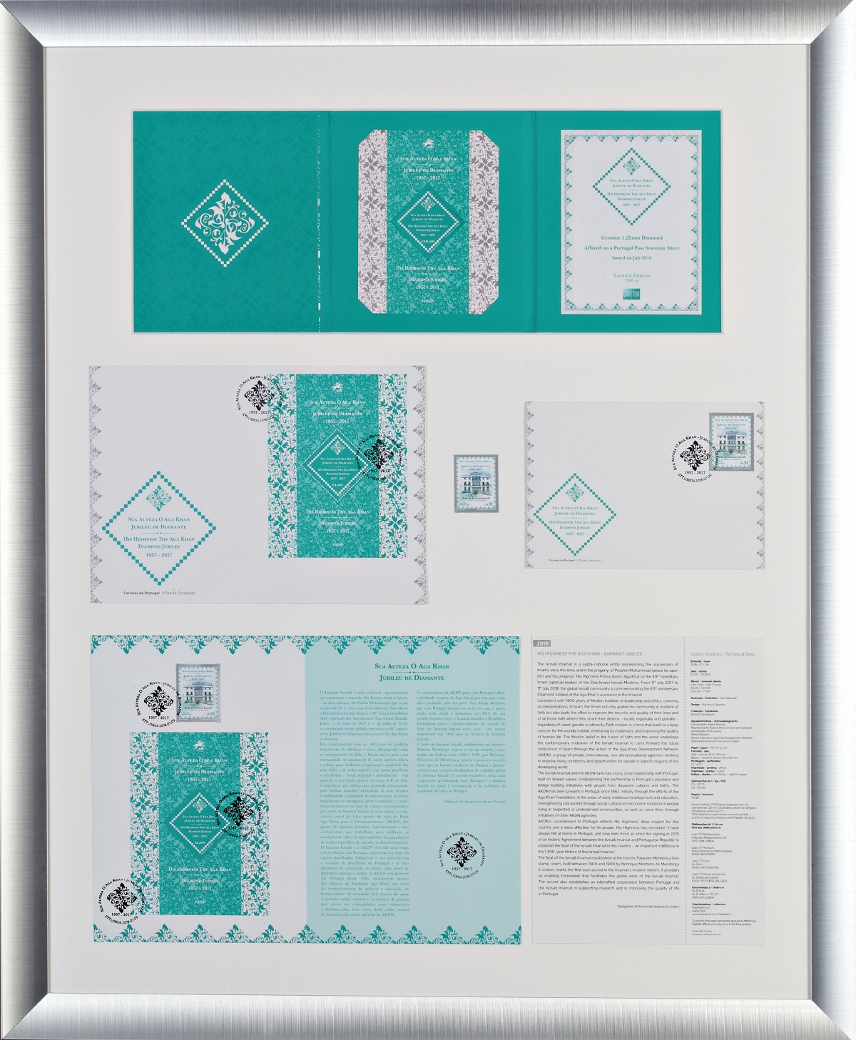 Calling All Canadian Ismailis: A Beautiful and Unique Frame of Philatelic Objects Honouring Mawlana Hazar Imam, His Highness the Aga Khan