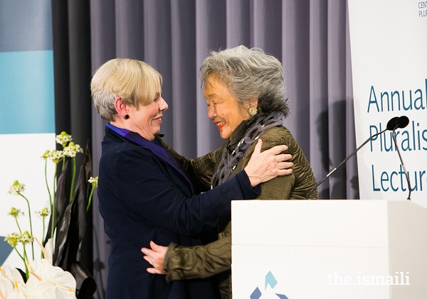 adrienne clarkson and karen armstrong 2018 annual pluralism lecture aga khan centre london s