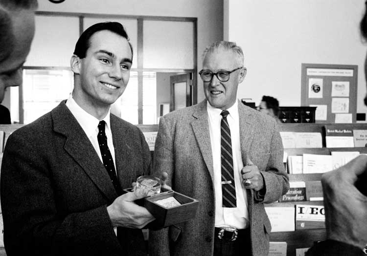 His Highness the Aga Khan, Mawlana Hazar Imam, impressed scientists during  his visit to Los Alamos Lab in 1959