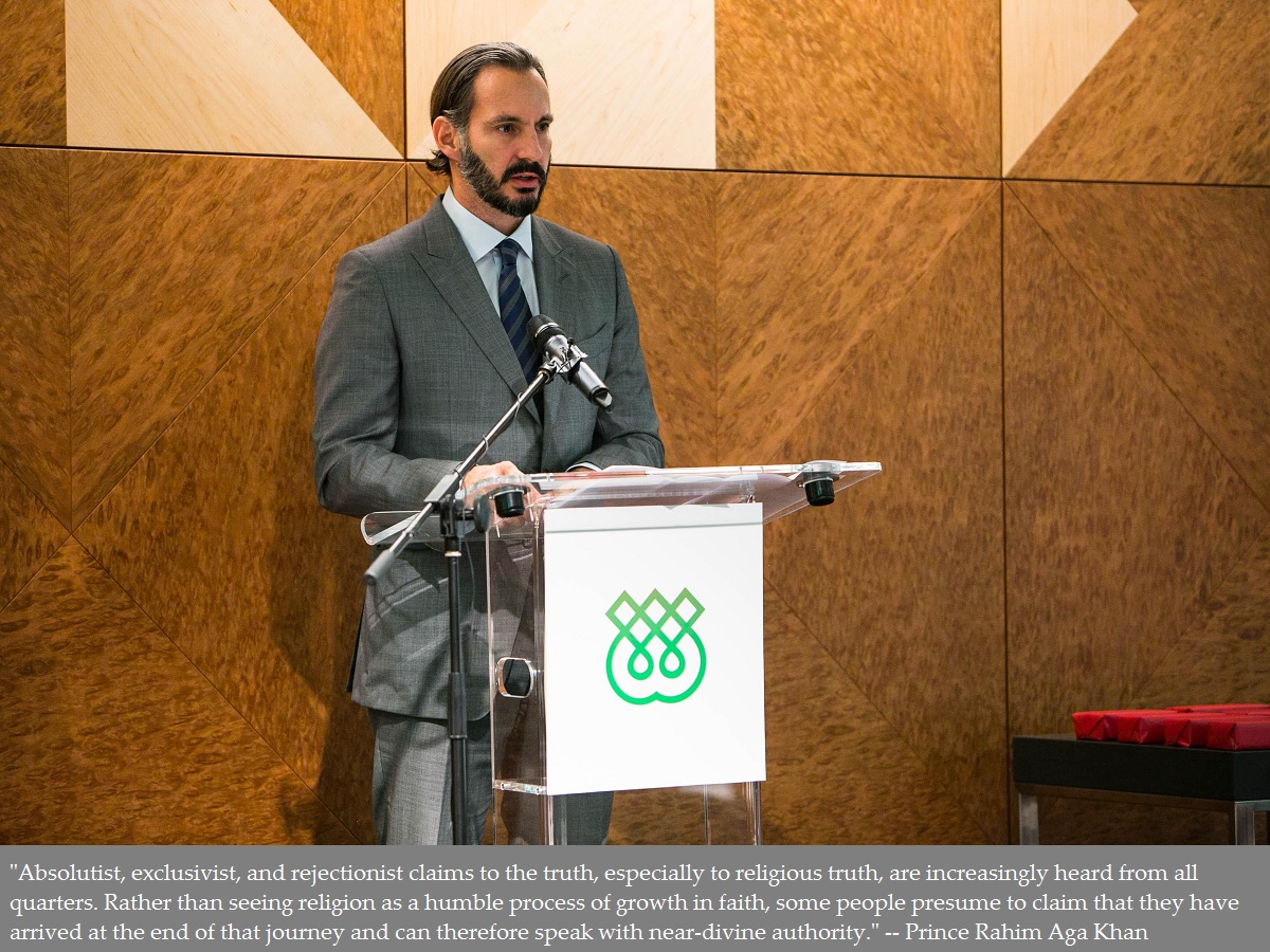 Prince Rahim Aga Khan: Pluralism Harnesses Human Creativity and Kindles the Very Spirit of the Knowledge Society