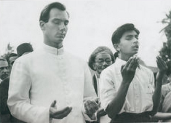 Aga Khan and Ahamed Ismail 1957 Dar es Salaam