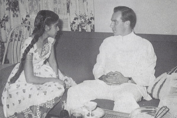 Aga Khan with student Yasmin