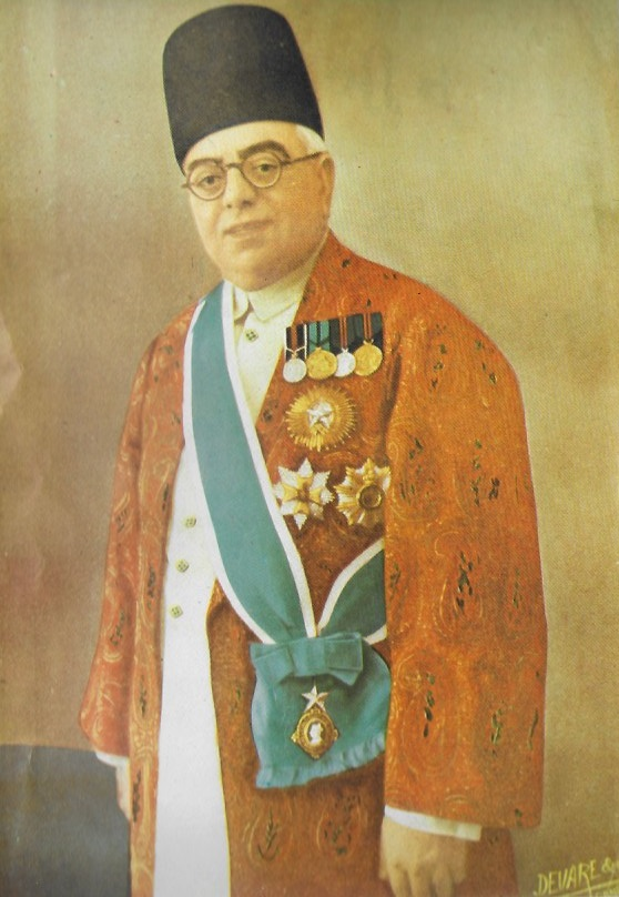 His Highness the Aga Khan III in full regalia