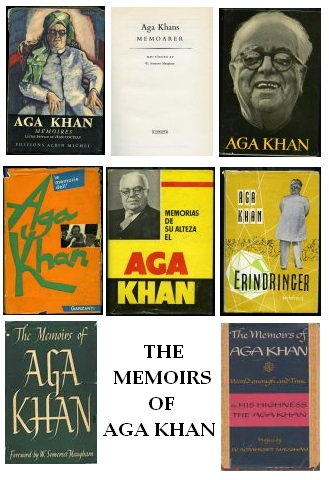 memoirs of aga khan jackets of western editions