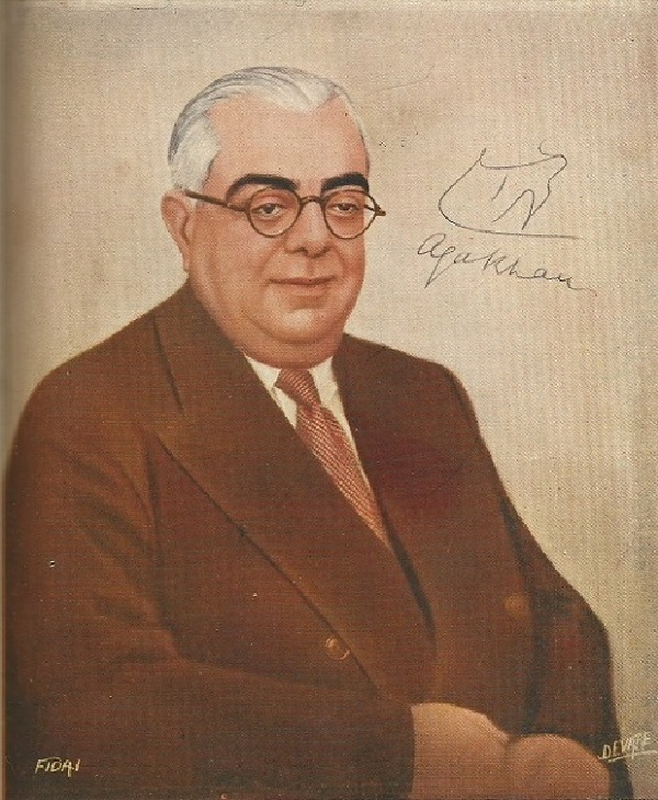 Aga Khan III signed portrait Barakah from Fidai magazine