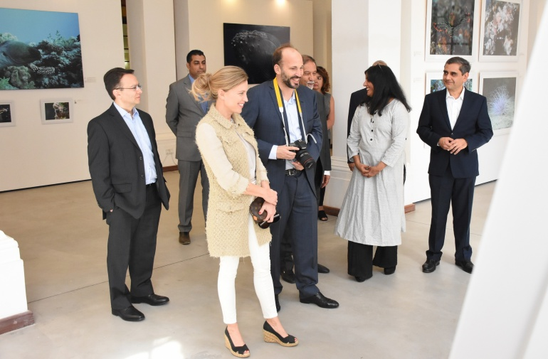 Prince Hussain and Elizabeth Hoag at marine exhibition in Nairobi
