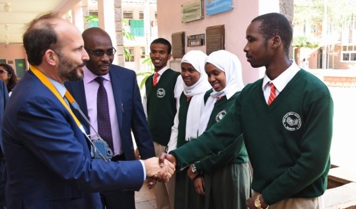 Prince Hussain with senior prefect Aga Khan High School Nairobi