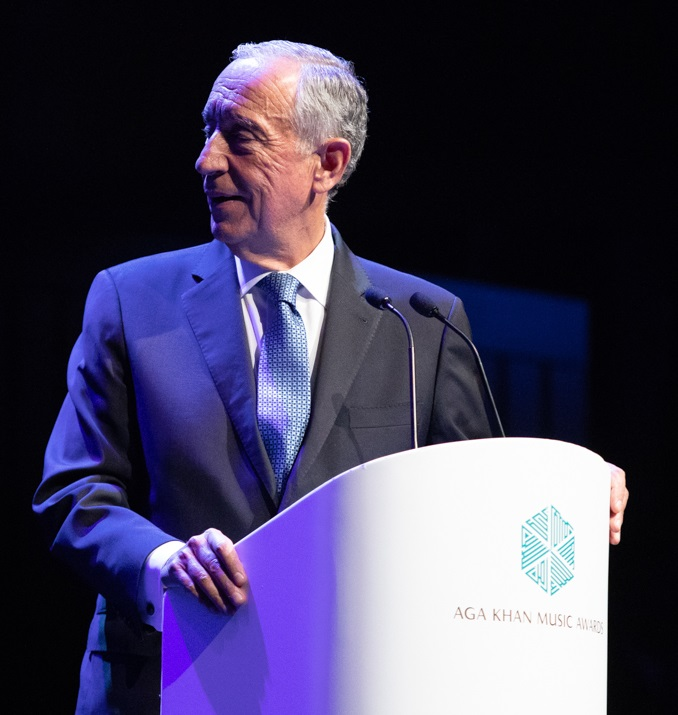 His Excellency President Marcelo Rebelo de Sousa ga Khan Music Awards Gulbenkian March 31 2019