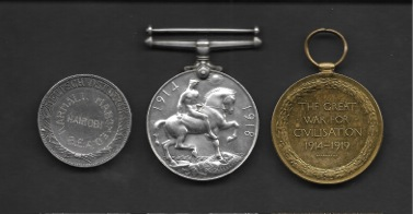 Jan Karmali - War Medals (reverse) 1, Barakah