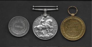 Jan Karmali - War Medals (reverse) 1