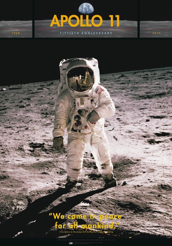 The Apollo 11 landing on the moon