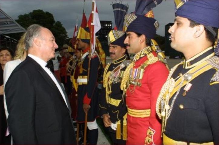 Aga Khan at All the Queen's Horses event in Windsor for Queen Elizabeth Golden Jubilee