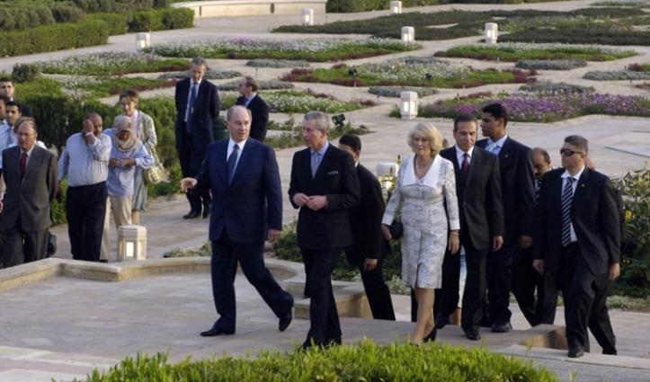 egypt_2006march_2m.Aga Khan welcomes Prince Charles to Al Azhar Park