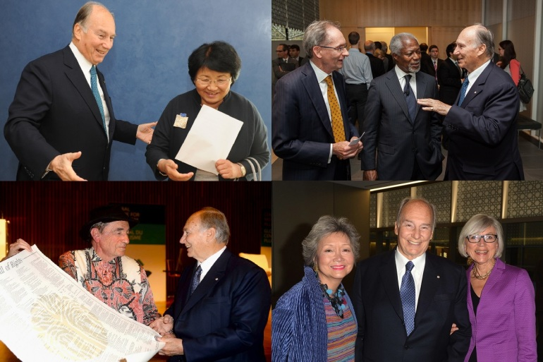 Aga Khan with speakers of Annual Global Centre for Pluralism Lectures_Collage