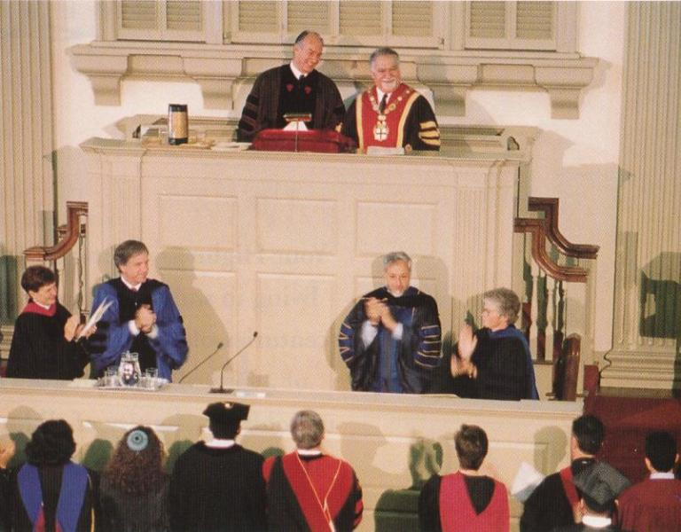 Aga Khan at Brown University 1996,  Meeting House of the First Baptist Church in Providence, Rhode Island, barakah.com tribute to prince rahim aga khan