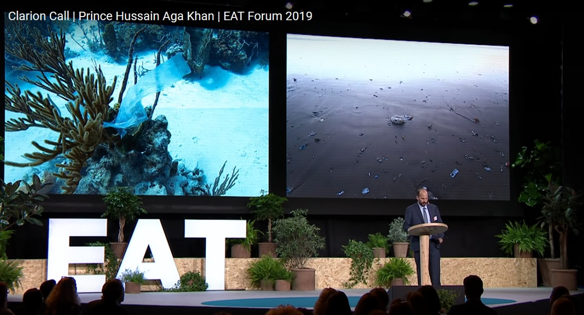 Prince Hussain Aga Khan - Plastic is Everywhere in the Ocean, Wrapped around in a coral