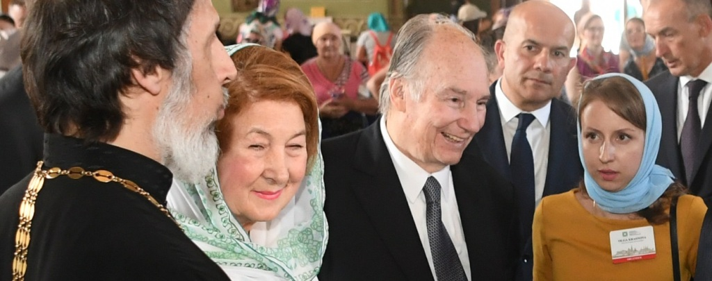 Aga Khan in Kazan Kremlin, Annunciation Cathedral
