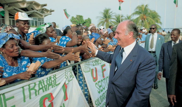Aga Khan welcomed in Abidjan, Ivory Coast. Barakah